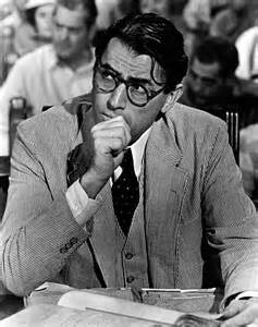 Gregory Peck as Atticus Finch.  Correction... Gregory Peck IS Atticus Finch.